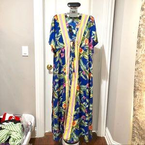 Floral Long kimono- cover up